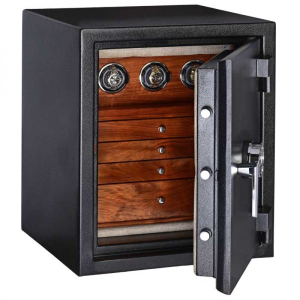 C21 in Text Black and Walnut with 3 Winders and 4 Drawers