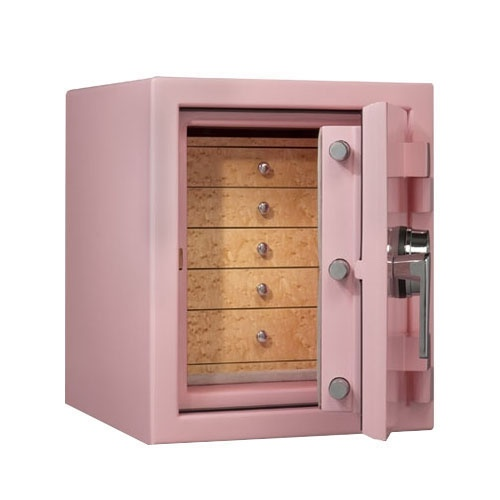 Topaz in Precious Pink and Chrome Hardware with Birdseye Maple